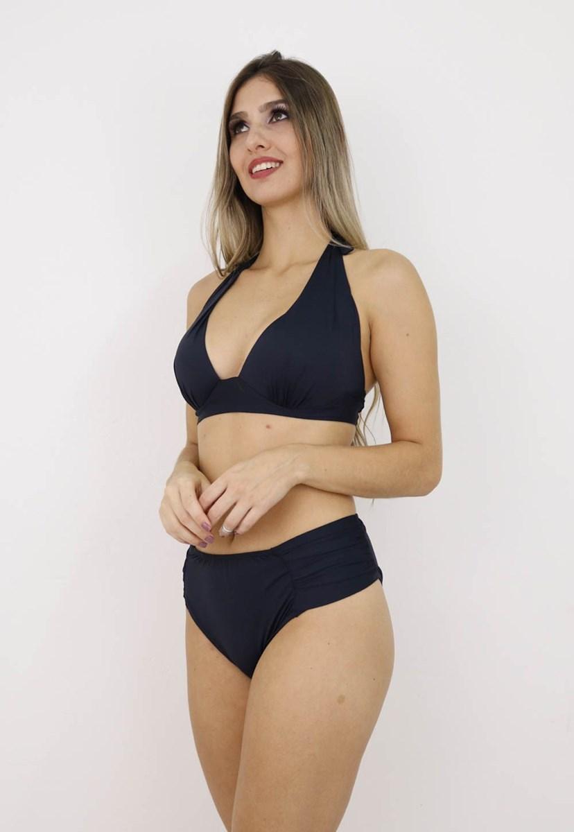 Calcinha Hot Pants Liso Conforto Feminino Preto
