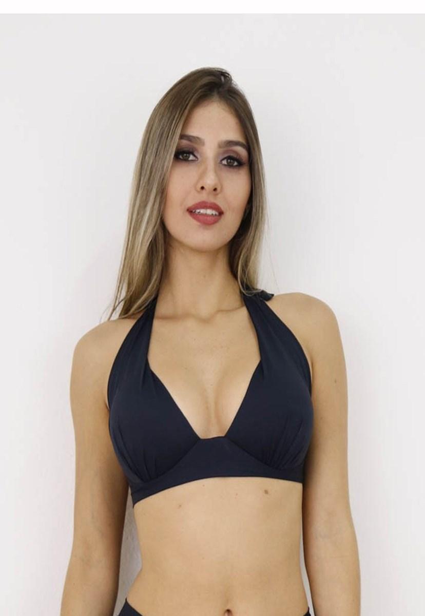 Top Meia Taça com Bojo Feminino Conforto Preto
