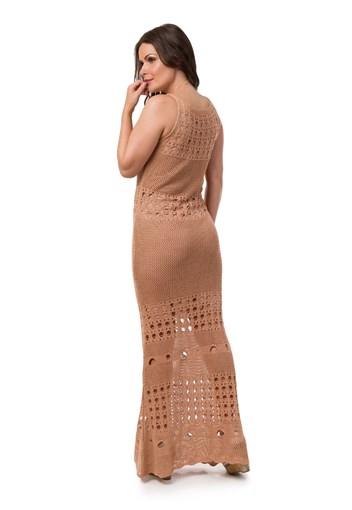 303c33229b ... Vestido Pink Tricot Longo Manga Curta Feminino